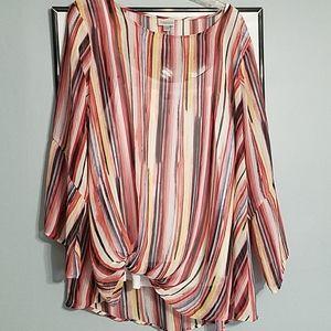 Avenue silky see thru blouse 18/20